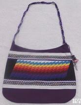 Native American Patchwork FIRE Ladies Bag Purse Purple Handmade Seminole... - $59.99