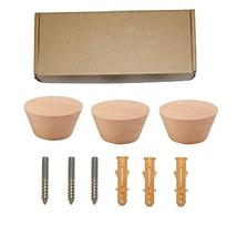 3 PCS,Natural Wooden Coat Hooks,Wall Mount Single Hat Bag Hooks,Decorative Cone  image 7