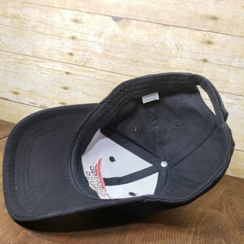 Red Wing Shoes Black Ball Cap Strapback Hat - NEW