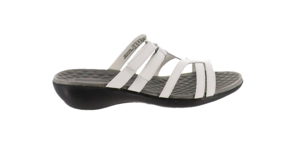 95a504f37 Clarks Leather Adjustable Slide Sandals and 50 similar items