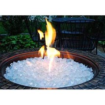 10 Pounds of Clear Ice Fire Pit Fire Glass - $33.83
