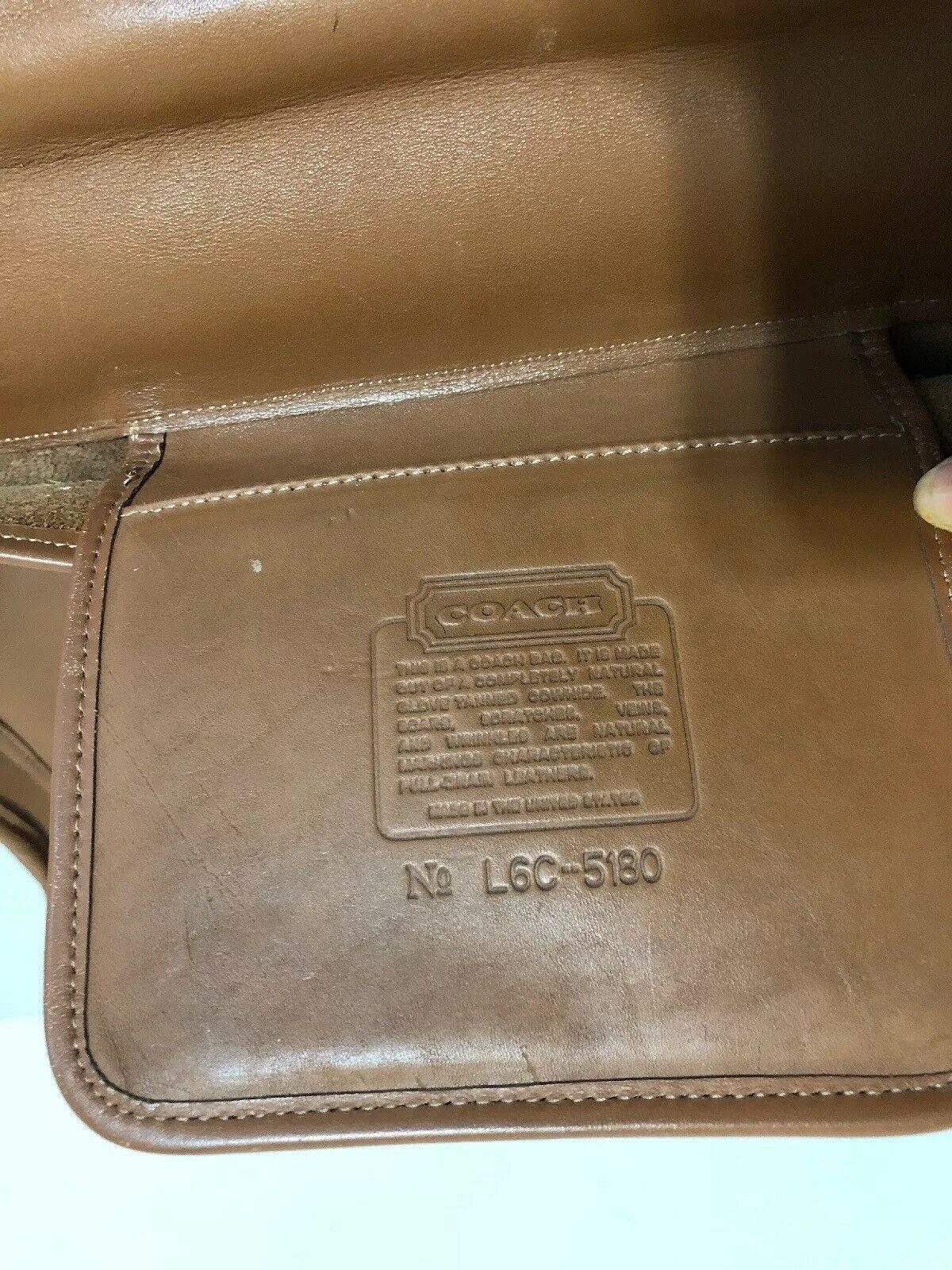 Vintage COACH L6C- 5180 Metropolitan Leather Messenger Attache Tan image 11