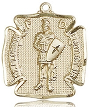 ST. FLORIAN MEDAL  - 14KT Gold Medal - NO CHAIN - 0070 - $798.99