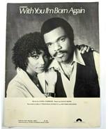 With You I'm Born Again by Billy Preston & Syreeta Sheet Music Carol Con... - $14.50