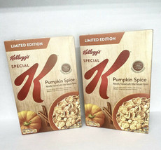 (2) Kelloggs Special K Cereal Pumpkin Spice Limited Edition 17.7 Oz Exp 08/2021 - $21.14