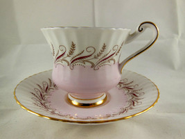 Paragon Bone China Cup Saucer Appointment to Her Majesty the Queen England pink - $12.46