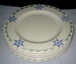 6 Pfaltzgraff Nordic Christmas Snowflake Dinner Plates Lot Euc - $46.99