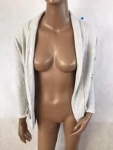 ROBIN K. Women's Gray 3/4 Sleeve Open Front Casual Cardigan Sweater Size... - $12.19