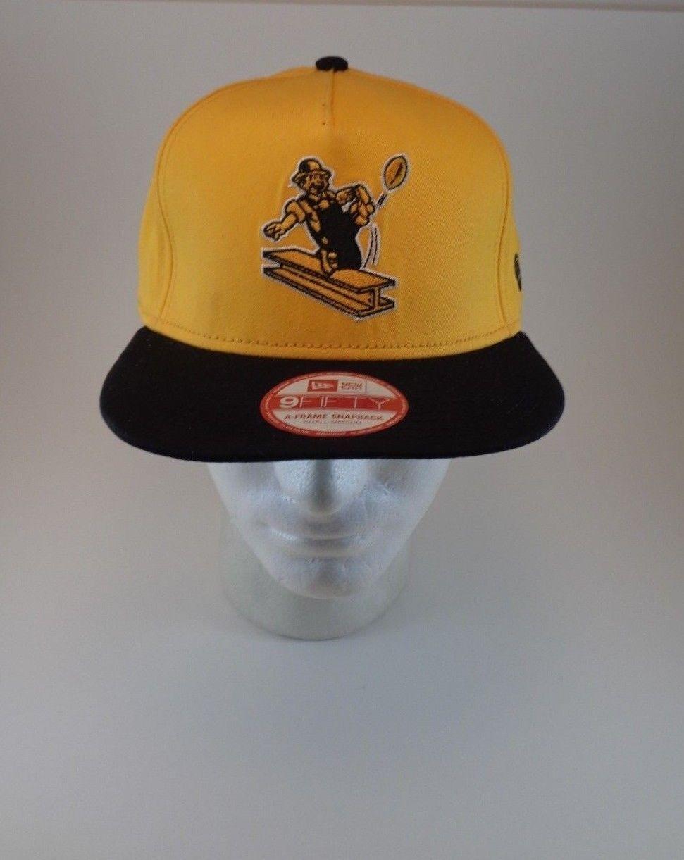 PITTSBURGH STEELERS New Era 9FIFTY Throwback SNAPBACK Cap HAT GOLD/BLACK S/M NWT