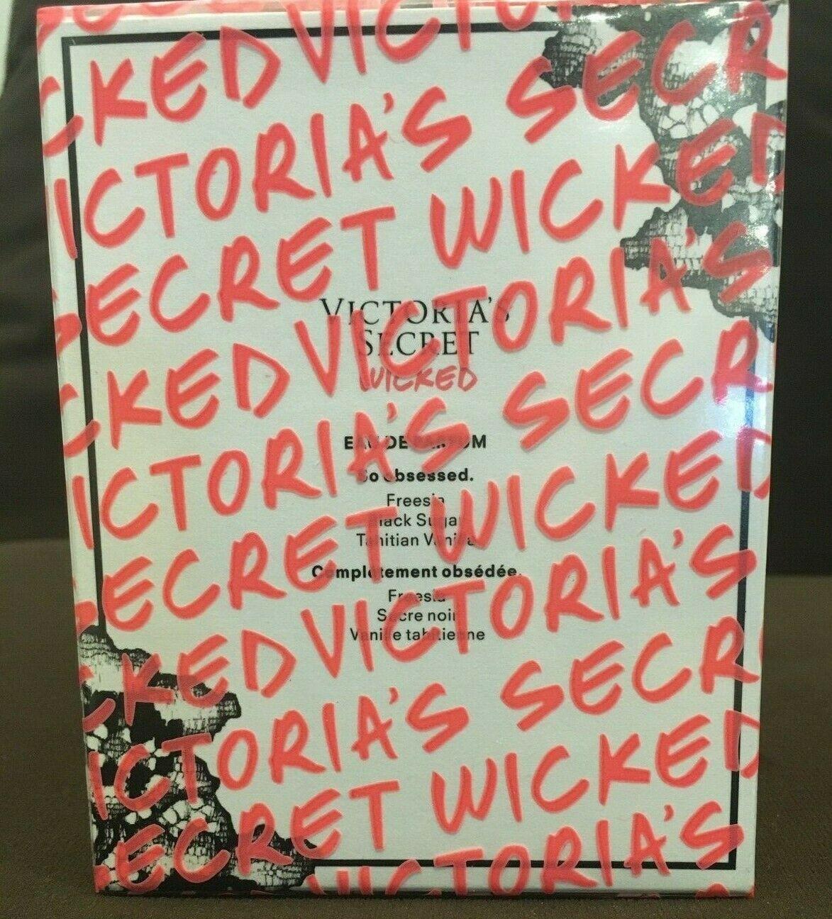 New Victoria's Secret WICKED Eau De Parfum Fragrance 1.7 oz Sealed Authentic $55