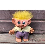 "VTG 1960's 7"" TROLL DOLL BANK w Yellow Hair  - $29.65"
