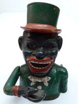 Vintage 1920-30s USA Mechanical Moving Figure The Jolly Negro Iron Savin... - $637.00