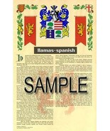 Llamas Coat of Arms (Armorial Name History) Family Crest 11x17 Print Scroll - $18.99