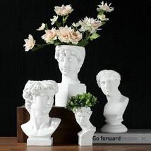 Vase Flower Pot Makeup Brush Storage Box Home Decoration Pen Holder Scul... - $34.43