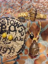 Bronzite Necklace, Bracelet, and Earring Set - Handmade Natural Gift Set - $65.00
