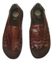 Earth Shoe Huarache Sandals Brown Leather Weaved Cherub Womens Size 8 - $14.83