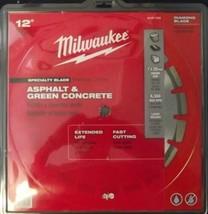 "Milwaukee 49-93-7235 12"" Asphalt & Green Concrete Segmented Saw Blade - $108.90"