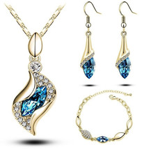 Design New Fashion Gold Filled Colorful Austrian Crystal Drop Jewelry Se... - $5.99