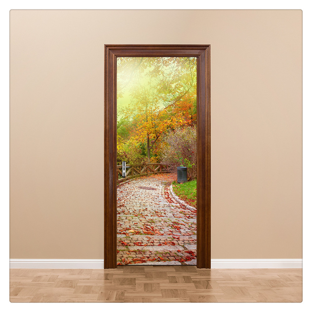Primary image for Door Wall Sticker PVC Waterproof Bedroom Living Room Door Mural Wrap 54