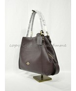 Coach 57125 Edie Shoulder Bag 31 In Refined Pebble Leather in Oxblood /L... - $259.00