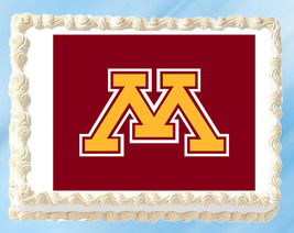 "Minnesota Gophers Edible Image Topper Cupcake Cake Frosting 1/4 Sheet 8.5 x 11"" - $11.75"