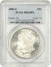 1880-S $1 PCGS MS65 PL - Morgan Silver Dollar - $266.75