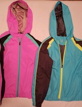 2 BCG Lightweight Youth Windbreakers lot M (8/10)  Pink and Blue - $9.40