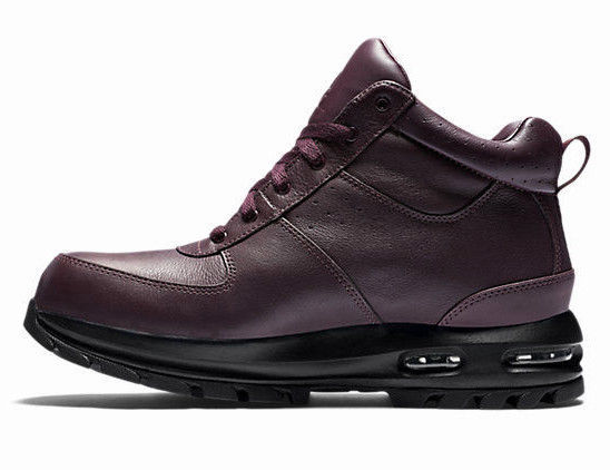 f1519f6a172ad9 NIKE AIR MAX GOATERRA ACG HIKING BOOTS BURGUNDY BLACK SIZE 9.5 NEW (365970-