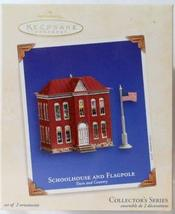 Hallmark Keepsake Ornament Schoolhouse and Flagpole Town and Country 2003 - $14.85