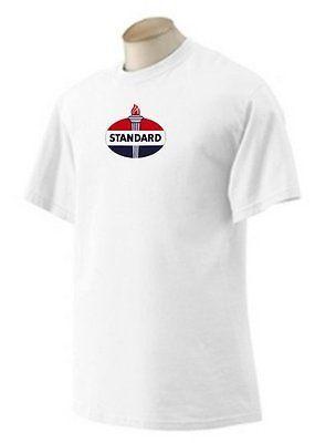 Standard Gasoline T-shirt  Decal Signs Motor Oil Gas Globes