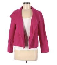 Talbots MP Blazer Jacket Open Front Boiled Wool Hot Pink Medium Petite - $34.95