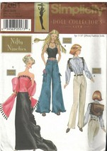 7081 UNCUT Simplicity Sewing Pattern Fashion Doll Clothes 90s Shirt Pant... - $14.99