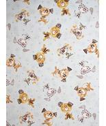 Good Doggie Puppy Dog Pawprints Lt Blue Cotton Fabric by The Yard - $26.22