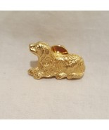 Spaniel Dog Puppy Lapel Pin Brooch Costume Metal  Gold Tone Avon My Favo... - $9.99