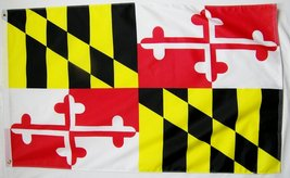 State of Maryland Flag 3' X 5' Indoor Outdoor State Banner - $9.95