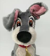 """Disney Store Lady & the Tramp BIG Plush Toy Doll 16"""" Grey Boy Dog Stuffe... - $16.36"""