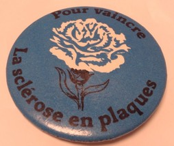 """Vintage 2"""" Promo Button Pinback POUR VAINCRE LA SCLEROSE EN PLAQUES ~SP~... - $5.03"""