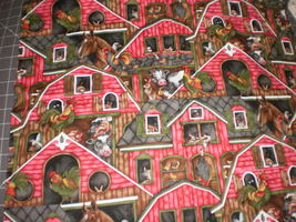 """Barnyard"" by Michael Miller Fabrics OOP & Rare Fabric 1 Yard Barn Animals  - $24.95"