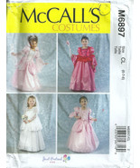 McCalls 6897 Princess Bride Fairy Costume Pattern Choose Size Toddler or... - $4.99