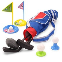EXERCISE N PLAY Deluxe Happy Kids/Toddler Golf Clubs Set Grow-to-Pro Golfer 15 P