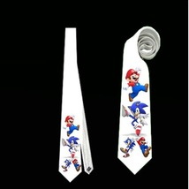 necktie mario luigi neck tie wedding themed - $22.00