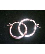 Sterling Silver Hoop Earrings Seta 925 - $19.00
