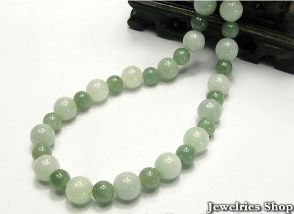 Vintage Natural  Green Jade Round Bead Necklace image 3