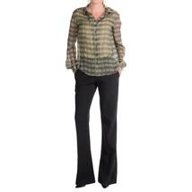 New NWT $425 Theyskens Theory Silk Black Pants Womens Potter 4 Slacks Ta... - $146.25