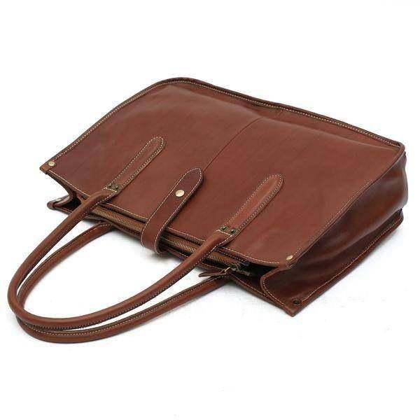 On Sale, Leather Tote Bag for Women, Shoulder Bag, Work & Student Bag, Shopper B image 2
