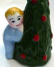 CLAY ART Salt & Pepper CHRISTMAS EVE Santa Child ChristmasTree RETIRED N Vintage image 2