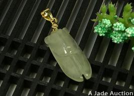 Happiness Natural Light Green Lovely Cicadas Jade Charm image 5