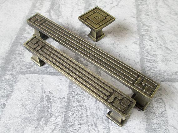 """3.75"""" Dresser Pulls Drawer Pull Handles Antique Bronze Kitchen Cabinet Handle"""