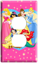 NEW DISNEY PRINCESS  PINK DUPLEX OUTLET COVER WALLPLATE image 3