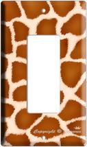 GIRAFFE PRINT KIDS ROOM DECOR ROCKER LIGHT SWITCH PLATE image 3
